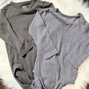2 H&M organic cotton onesies